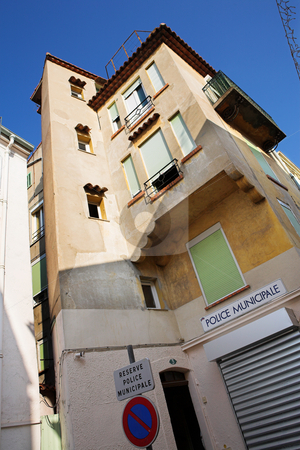 Building in Cannes stock photo, Residential building in Cannes, France. by Sean Nel