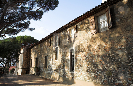 Building in Cannes stock photo, Old building with trees infront in Cannes, France by Sean Nel