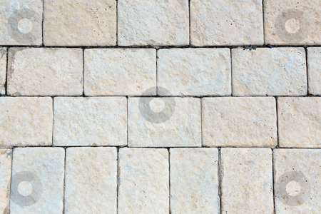 Pavement bricks background stock photo, Brown pavement bricks background by Sean Nel