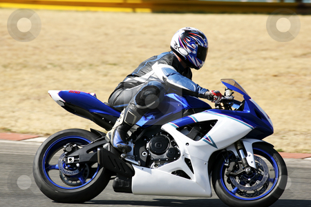 Superbike #88 stock photo, High speed Superbike on the circuit  by Sean Nel