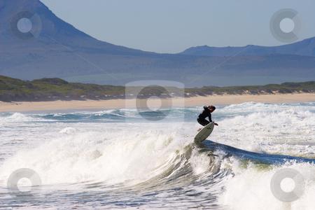 Surfer #3 stock photo, Unknown Surfer on Kleinmond beach - South Africa by Sean Nel