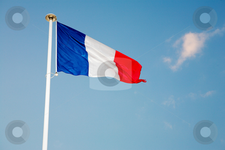 Cannes #56 stock photo, Waving French Flag by Sean Nel