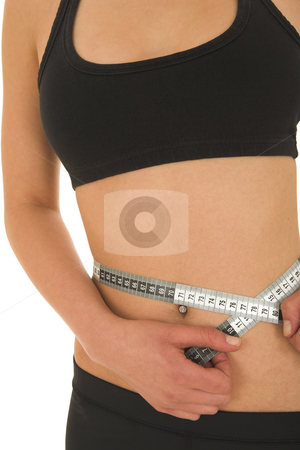 Gymbunny #37 stock photo, Woman with measuring tape by Sean Nel