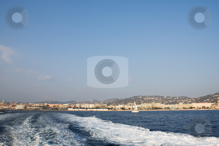 IsleDeMarguerite #6 stock photo, Leaving the Harbour in Cannes, France by Sean Nel