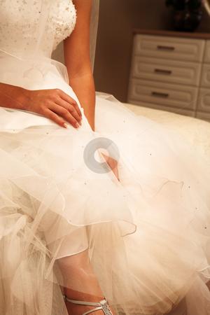 Wedding #32 stock photo, Wedding gown by Sean Nel