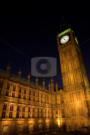 Big Ben #2 stock photo, Big Ben at night by Sean Nel