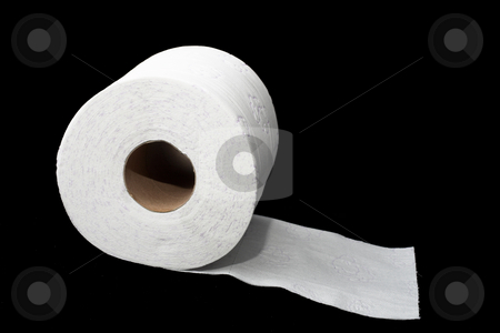 Toiletpaper #2 stock photo, Toiletpaper with patterns on black background by Sean Nel