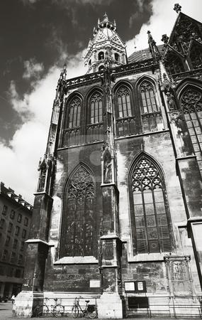 Vienna #36 stock photo, St Stephens DOM - Vienna, Austria - B&W by Sean Nel