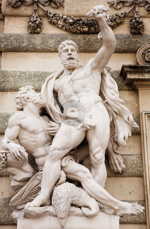 Vienna #33 stock photo, The statues of Hercules outside the Hoffberg Palace by Sean Nel