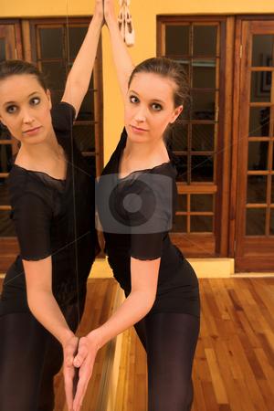 Ballerina #37 stock photo, Ballerina against mirror by Sean Nel