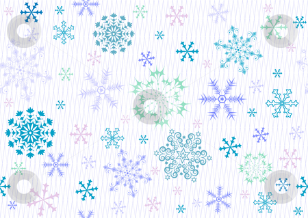 Seamless christmas pattern (vector) stock vector clipart, Seamless white, blue and pink paste christmas pattern (vector) by Olga Drozdova