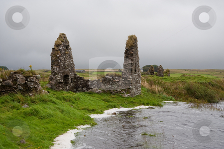 Eilean Mor Loch Finlaggan stock photo, Eilean Mor (Large Island) Loch Finlaggan, seat of the Lord of the Isles by Jaime Pharr
