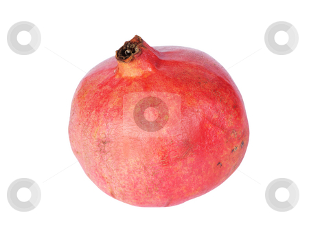 Pomegranate stock photo, Red ripe pomegranate isolated on white background by Salauyou Yury