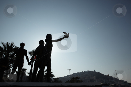 Ataturk peace monument stock photo, Monument of Ataturk and Youth, Kusadasi, Turkey. The monument signifies peace and hope by Sean Nel