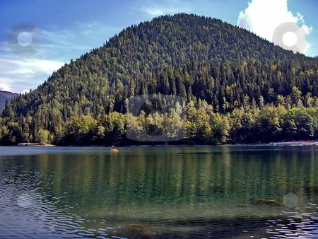 Lake Ritza  stock photo, Lake Ritza in Abkhazia by Sergey Gorodenskiy