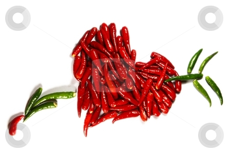 Spicy hart stock photo, Symbol of love - Spicy hart isolated on white by Oleg Blazhyievskyi