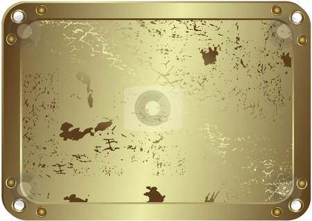 Grunge metallic silvery frame (vector) stock vector clipart, Grunge metallic silvery frame with round apertures on edges (vector) by Olga Drozdova