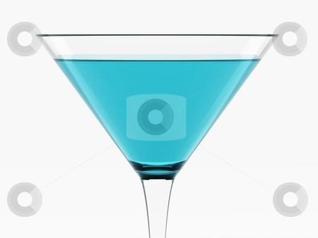 Light Blue Cocktail stock photo, Light Blue Cocktail by Oliver Klimek