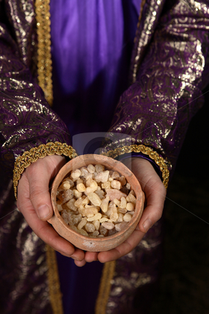 Bowl of frankincense stock photo, Bowl of frankincense by Leah-Anne Thompson