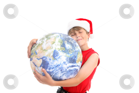 Christmas hugs around the world stock photo, To all around the world a blessed and merry Christmas. by Leah-Anne Thompson