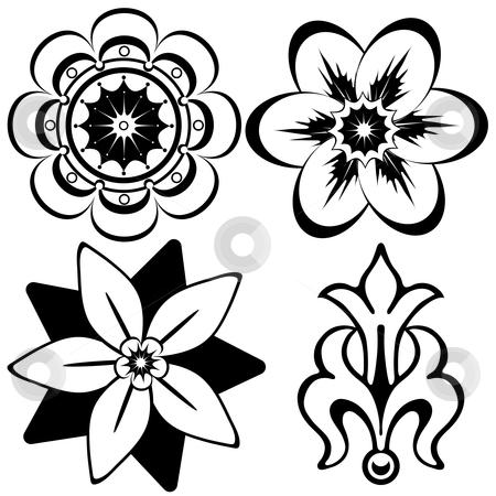 Vintage floral decorative elements stock vector clipart, Vintage floral decorative elements for design (vector) by Olga Drozdova