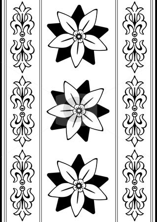 Vintage black and white seamless pattern  (vector) stock vector clipart, Vintage black and white seamless pattern  (vector) by Olga Drozdova