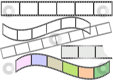 Film strips (vector) stock vector clipart, Film strips  on white background (vector) by Olga Drozdova