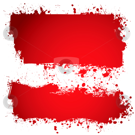 Blood red ink banner stock vector clipart, Red ink blood banner with room to add own text by Michael Travers
