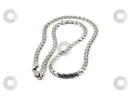 Silver chain stock photo,  by Sergei Devyatkin