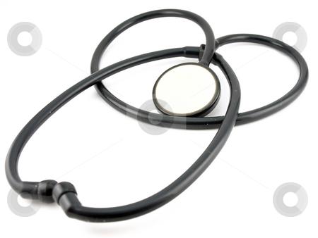 Old stethoscope stock photo,  by Sergei Devyatkin