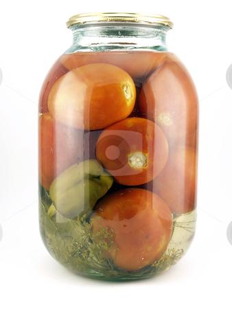 Conserve tomatoes stock photo,  by Sergei Devyatkin