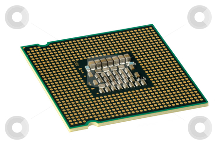 CPU, hyper DoF. stock photo, Computer accessories, modern central processor, isolated,  turned, hyper DoF. by Vladimir Blinov