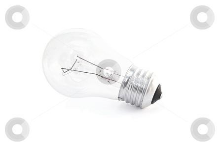 Electric bulb on isolated background stock photo, 100 w electric bulb on isolated background by Pavel Filippov