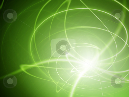 Abstract green vortex background stock photo, Abstract green wavy background with vibrant colors by Pavel Filippov