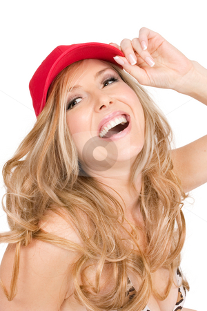 Carefree laughs stock photo, A woman laughing and enjoying herself by Leah-Anne Thompson