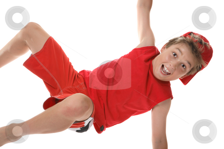 Active boy closeup stock photo, A happy active boy moving closeup by Leah-Anne Thompson