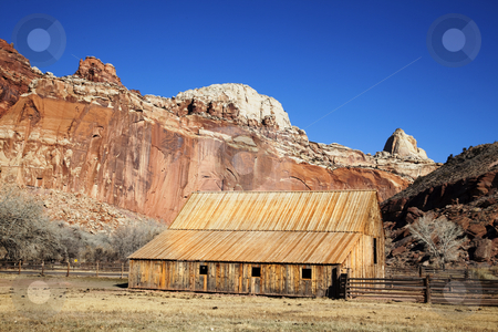 Capitol Reef National Park stock photo, Horse Barn in Capitol Reef National Park by Mark Smith