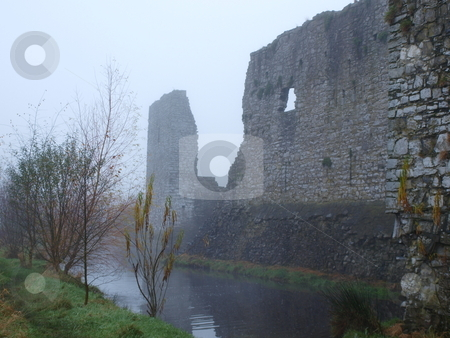 Castle Ruins stock photo, Trim Castle at the shores of the river Boyne in Ireland. by Stefanie Michel