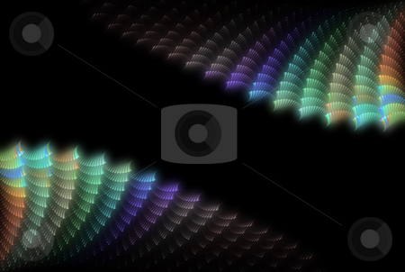 Abstract colour shell background stock photo, Abstract colour shell on the black background by Jan Turcan