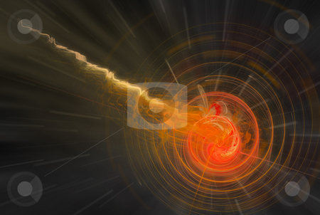 Abstract fireball background stock photo, Abstract background with fireball and  ligh trail by Jan Turcan