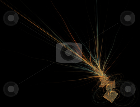 Abstract squares with light rays stock photo, Abstract squares with light sparkling rays by Jan Turcan