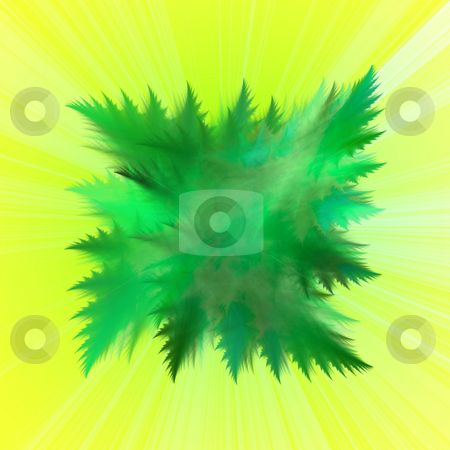 Abstract green leaves background stock photo, Abstract square background with green leaves theme by Jan Turcan