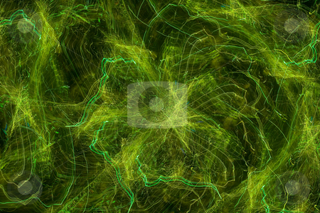 Abstract green lighted background stock photo, Abstract background with green light trails and glow by Jan Turcan