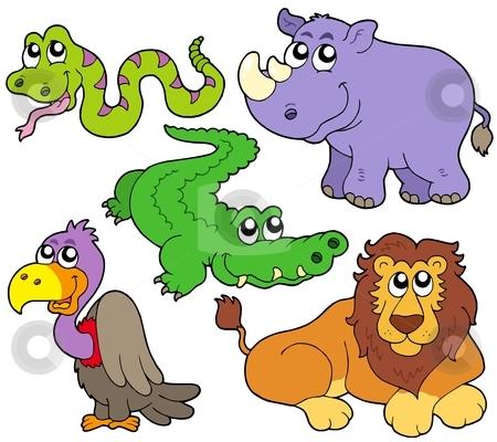 Wildlife cute animals collection stock vector clipart, Wildlife cute animals collection - vector illustration. by Klara Viskova