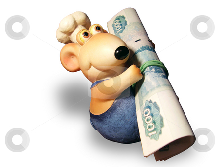 Mouse and money stock photo, Mouse and money by Sergey Gorodenskiy