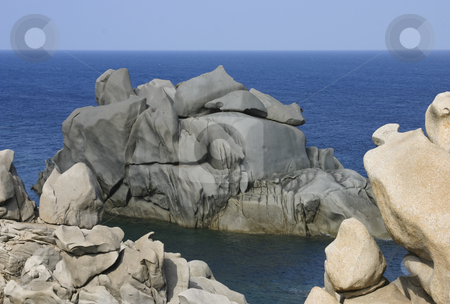 Bizzare Rocks stock photo, Unusual rock formation at Capo Testa, Sardinia, Italy, Europe by mdphot