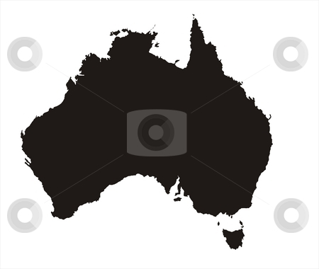 Australia Map stock photo, There is a map of Australia country with white background by Tudor Antonel adrian