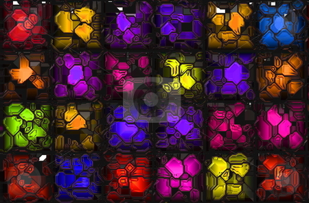 Crystal Background stock photo, Crystal Colorful Futuristic Gems as a Background by Kheng Ho Toh