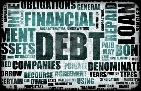 Debt stock photo, Financial Debt as a Abstract Background Concept by Kheng Ho Toh