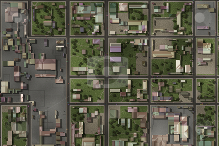 Aerial View stock photo, Aerial View of a City Suburb as Art by Kheng Ho Toh